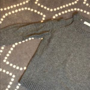 Elan Sweaters - Gray wool cold shoulder sweater! Like new!
